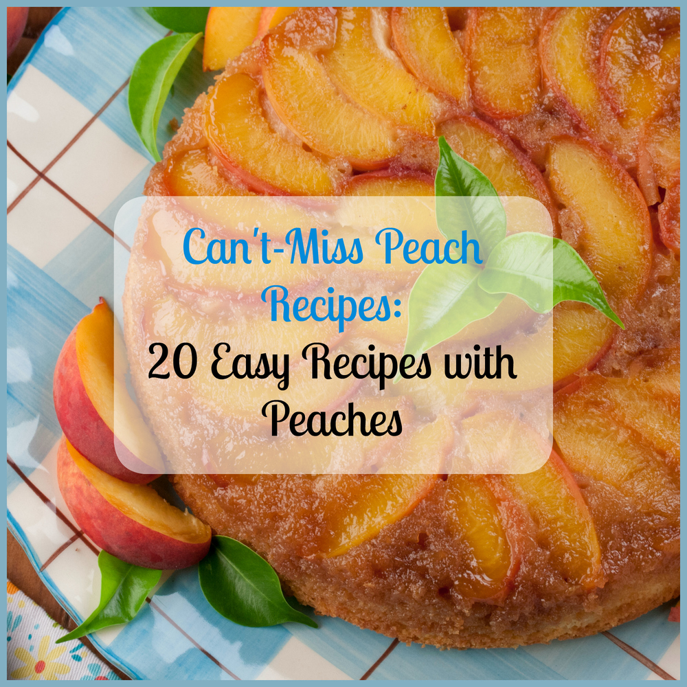 Can T Miss Peach Recipes 20 Easy Recipes With Peaches Mrfood Com