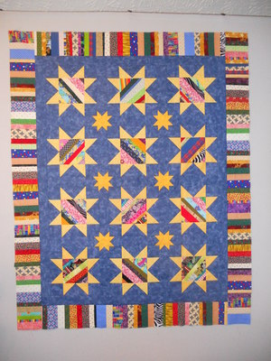 String Pieced Star Quilt Pattern