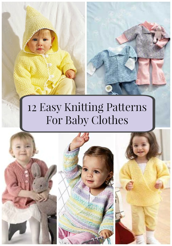 Knitting Patterns For Baby Wear : 12 Easy Knitting Patterns For Baby Clothes FaveCrafts.com