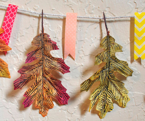 Embellished Leaves DIY Garland