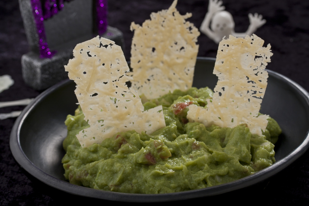 Graveyard Guacamole With Cheese Tombstones Mrfood Com