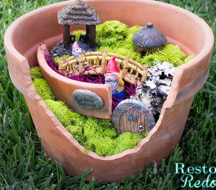 Incredible Broken Pot Ideas Recycle Your Garden: AllFreeHolidayCrafts.com