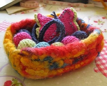 Felted Trinket Basket