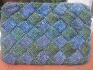Entrelac Knitted Laptop Case
