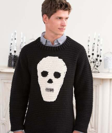 Spooky Skull Sweater