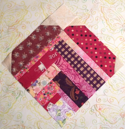 Improvised Heart Quilt Block