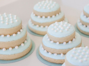 Miniature Wedding Cake Sugar Cookies