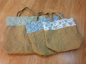 Lined Burlap Gift Bags