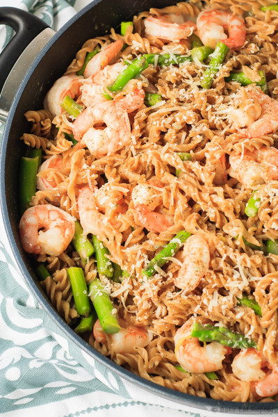 One Pot Lemon Shrimp Pasta