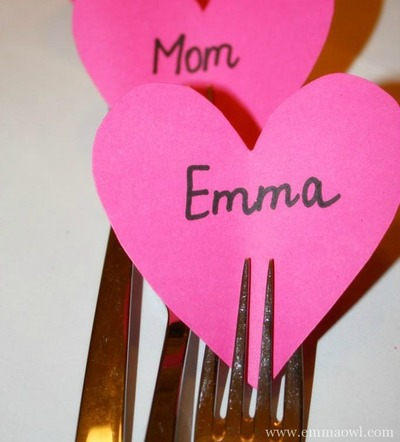 Valentines Table Name Cards