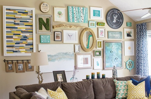 Massive DIY Gallery Wall