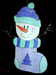 Printable Snowman Coloring Page