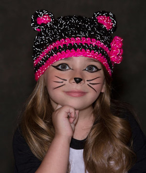 Glam Black Cat Hat