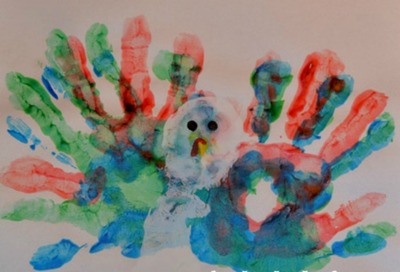 Hand Print and Footprint Turkey