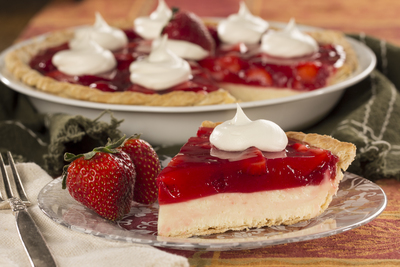 Strawberry Eggnog Pie