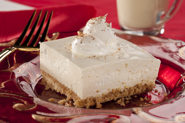 No-Bake Eggnog Cheesecake