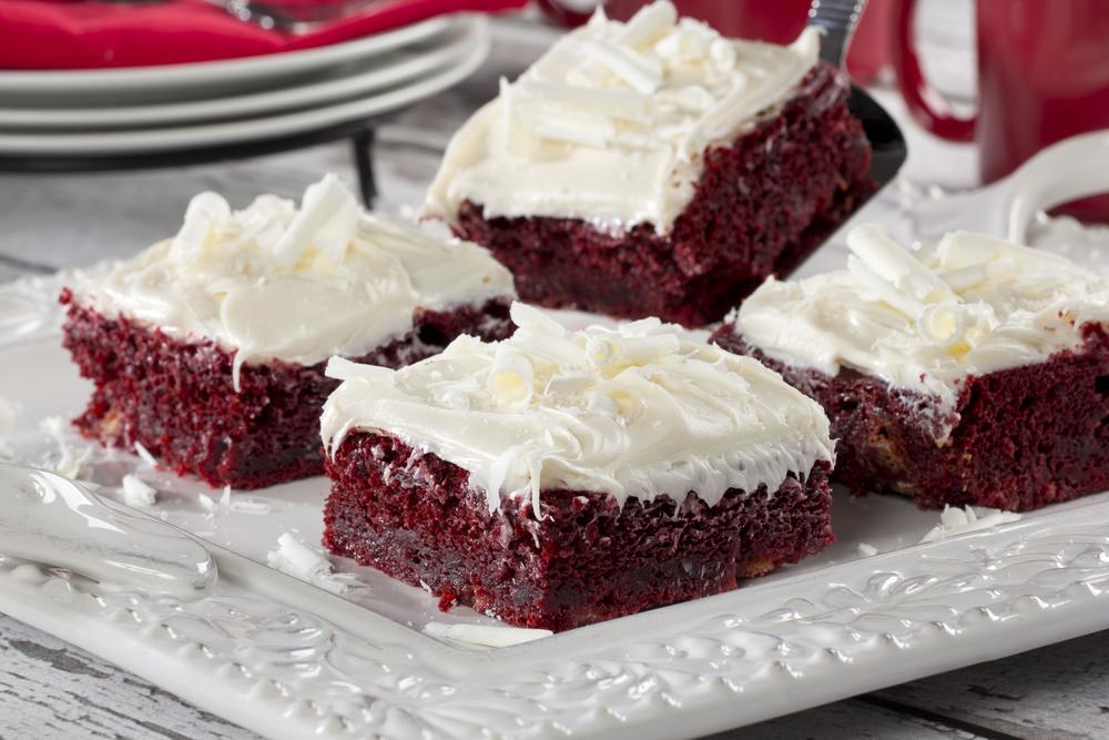 Easy Red Velvet Cake Brownies