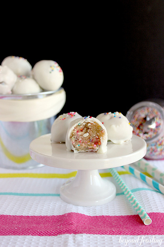 Funfetti Cookie Dough Truffles