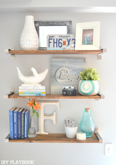 IKEA Hack Rustic DIY Shelves