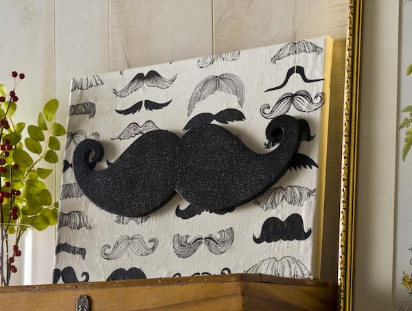 Glitter Mustache Diy Wall Art Allfreeholidaycrafts Com