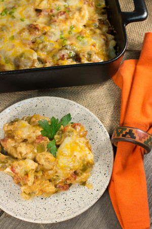 Creamy King Ranch Casserole