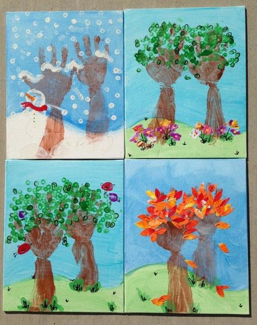 Seasons of Love Handprint Art