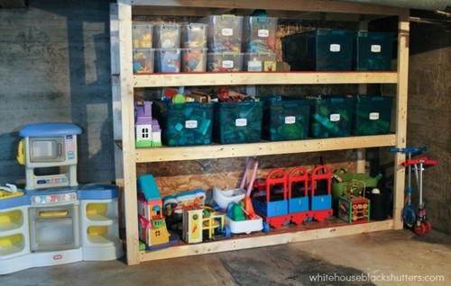 Basement DIY Shelving
