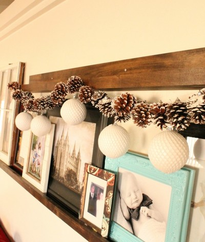 Simple Pine Cone  Ornament DIY Garland