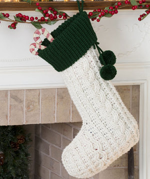 Classic Crochet Christmas Stocking