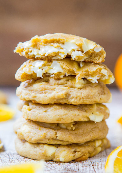 Orange Creamsicle White Chocolate Chip Cookies