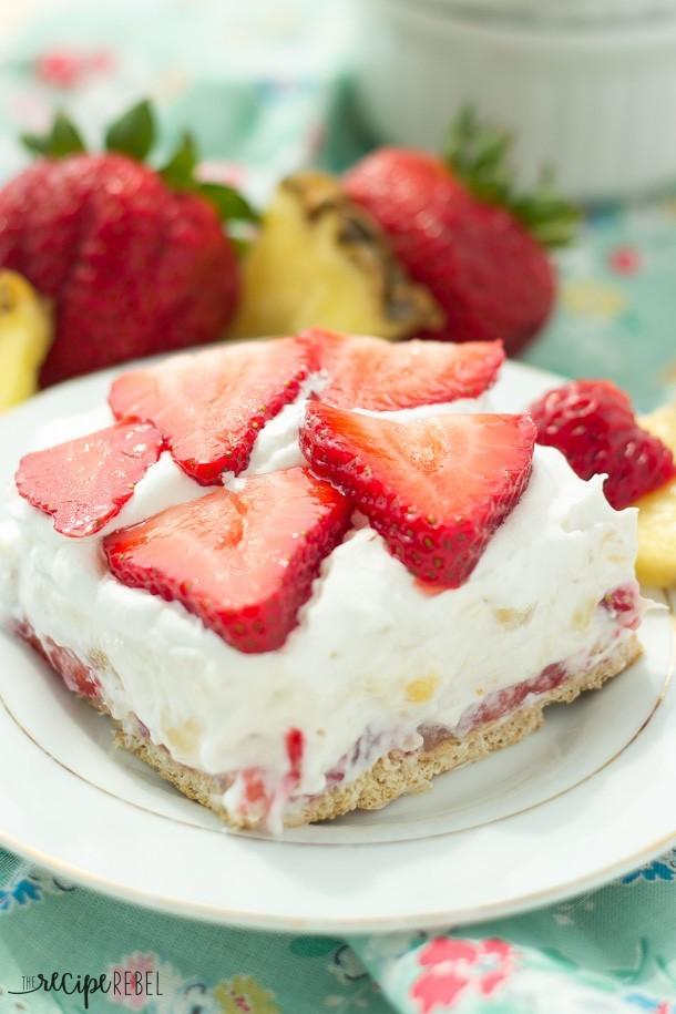 Light Strawberry Pineapple Cheesecake Recipelion Com