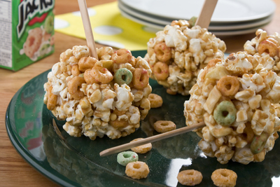Caramel Apple Popcorn Balls
