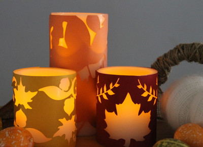 Autumn Candle Covers
