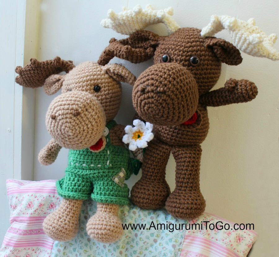 Advanced Amigurumi Shapes : Adorable Crochet Moose Pattern AllFreeCrochet.com