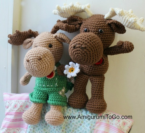 Adorable Crochet Moose Pattern
