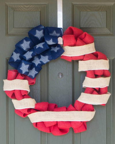 4th of July Flag Wreath