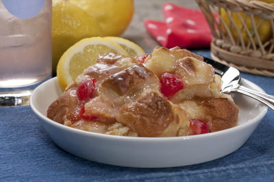 Pink Lemonade Bread Pudding