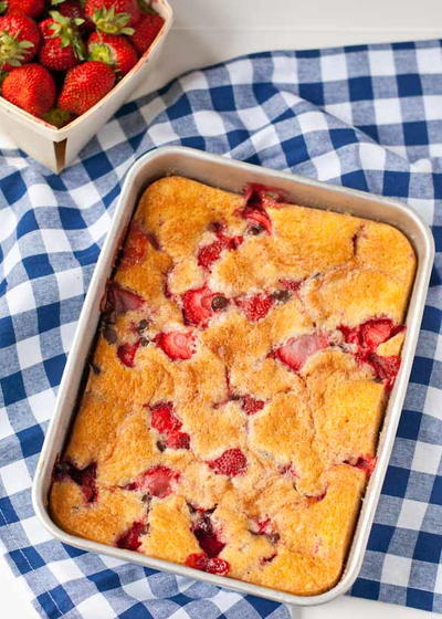 Strawberry Chocolate Chip Cobbler