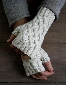Gorgeous Cable Fingerless Gloves