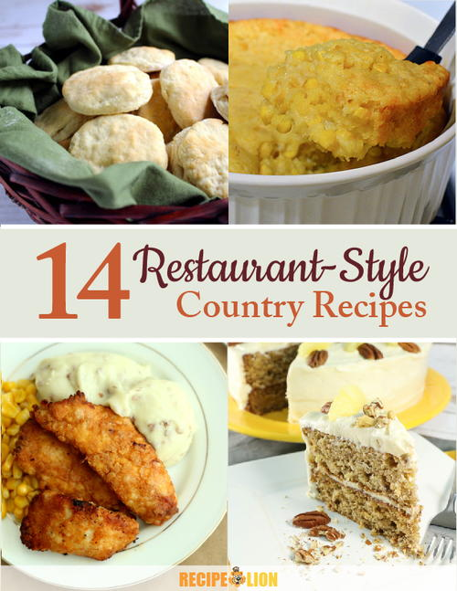 14 Restaurant-Style Country Recipes eCookbook