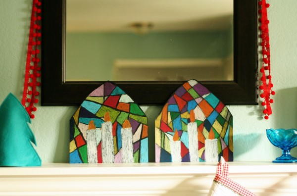Pastel Stained Glass Drawings AllFreeKidsCrafts