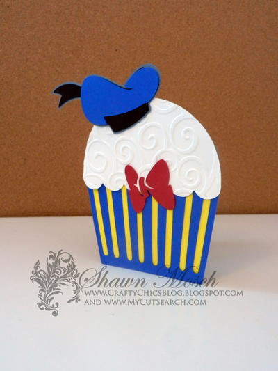 Donald Duck Cupcake Card