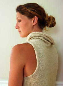 Sleeveless Cowl Sweater