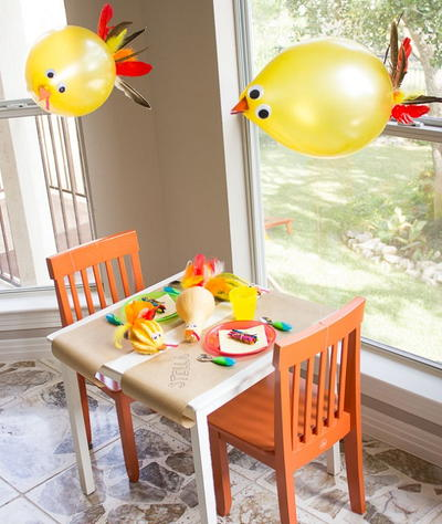Seriously Silly Turkey Balloon Decorating Ideas