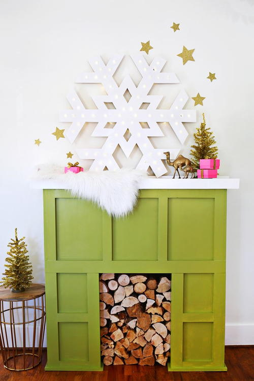 Light Up Snowflake DIY Decoration