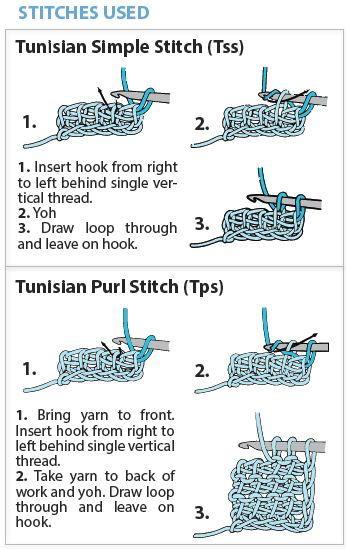 tunisian crochet stitches instructions