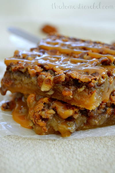 Salted Caramel Pecan Pie Bars