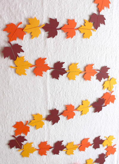 Quick Fall Leaf Garland