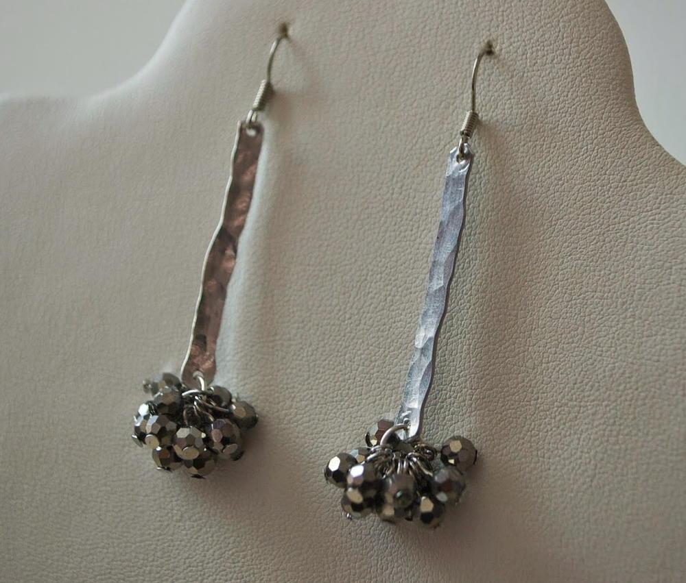 Easy Hammered Wire Earrings Allfreejewelrymaking Com