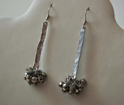 Easy Hammered Wire Earrings